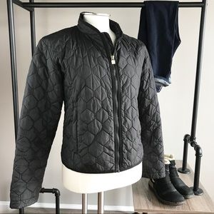 Burton black quilted honeycomb jacket lightweight